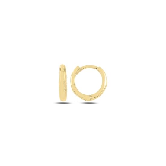 Ürün resmi: Altın Kaplama 13mm Sade Halka Gümüş Küpe