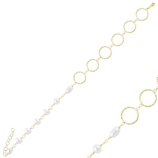 Ürün resmi: Altın Kaplama İncili Gümüş Bayan Bileklik