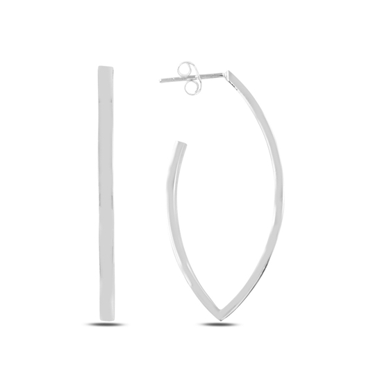 Ürün resmi: Taşsız V Halka Gümüş Küpe