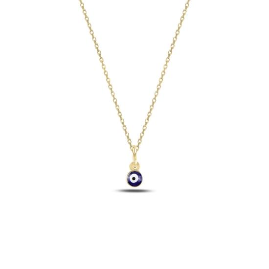 Ürün resmi: Altın Kaplama Göz Mineli Gümüş Bayan Kolye