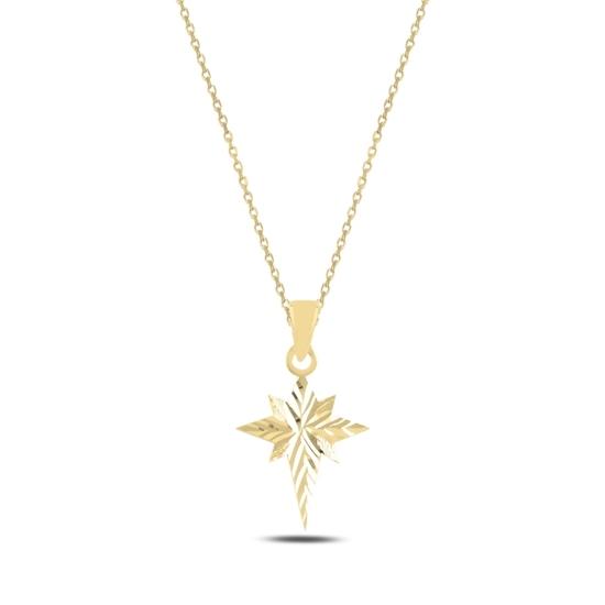 Ürün resmi: Altın Kaplama Kutup Yıldızı Gümüş Bayan Kolye
