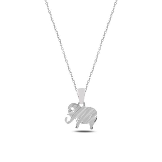 Ürün resmi: Rodyum Kaplama Fil Gümüş Bayan Kolye