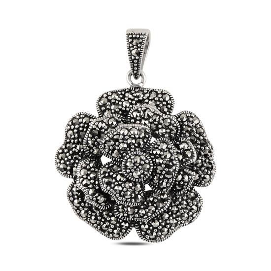 Ürün resmi: Gül Markazit Taşlı Gümüş Bayan Kolye Ucu