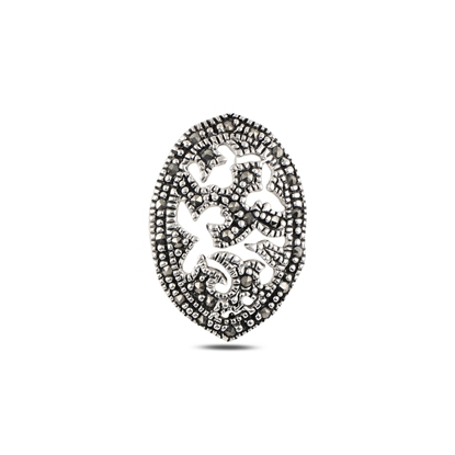 Resim Markazit Taşlı Gümüş Bayan Kolye Ucu
