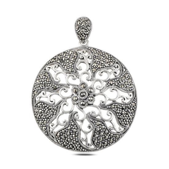 Ürün resmi: Markazit Taşlı Gümüş Bayan Kolye Ucu