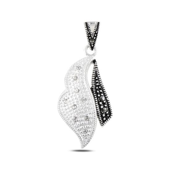 Ürün resmi: Markazit & Zirkon Taşlı Gümüş Bayan Kolye Ucu