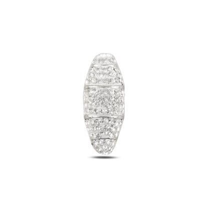 Resim Kristal Taşlı Gümüş Bayan Kolye Ucu