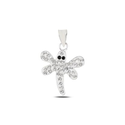 Resim Yusufçuk Kristal Taşlı Gümüş Bayan Kolye Ucu