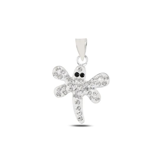 Ürün resmi: Yusufçuk Kristal Taşlı Gümüş Bayan Kolye Ucu