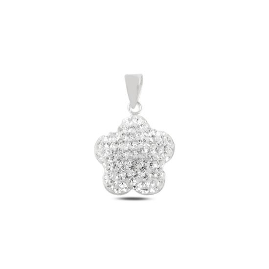 Ürün resmi: Papatya Kristal Taşlı Gümüş Bayan Kolye Ucu