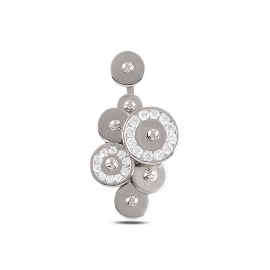 Ürün resmi: Rodyum Kaplama Zirkon Taşlı Gümüş Bayan Kolye Ucu