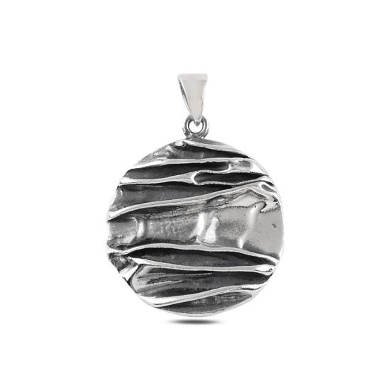 Ürün resmi: Yuvarlak Taşsız Gümüş Bayan Kolye Ucu