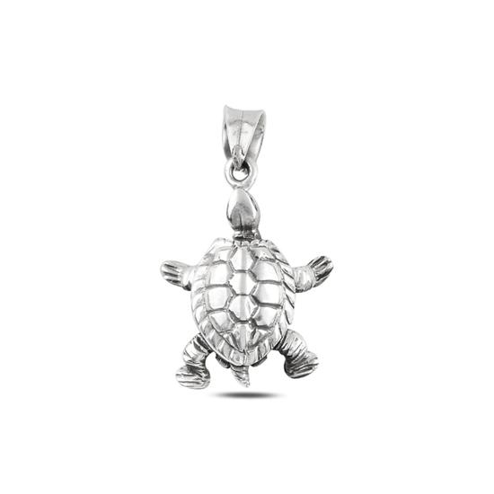Ürün resmi: Kaplumbağa Taşsız Gümüş Bayan Kolye Ucu
