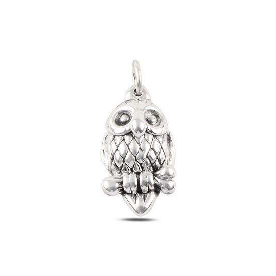 Ürün resmi: Baykuş Taşsız Gümüş Bayan Kolye Ucu