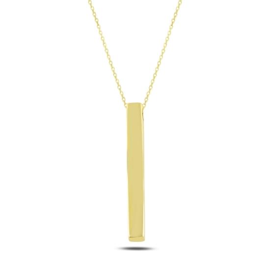 Ürün resmi: Altın Kaplama Çubuk Gümüş Bayan Kolye