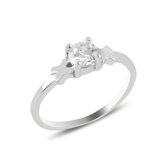 Ürün resmi: Tektaş Zirkon Taşlı Gümüş Bayan Yüzük