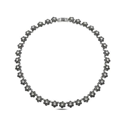 Resim Markazit & Sedef Taşlı Gümüş Bayan Kolye