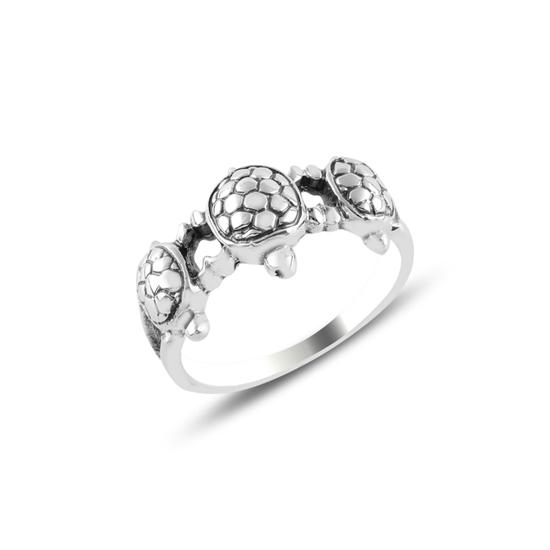 Ürün resmi: Kaplumbağa Oksitli Gümüş Bayan Yüzük