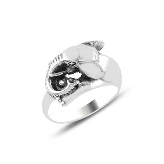 Ürün resmi: Fil Oksitli Gümüş Bayan Yüzük