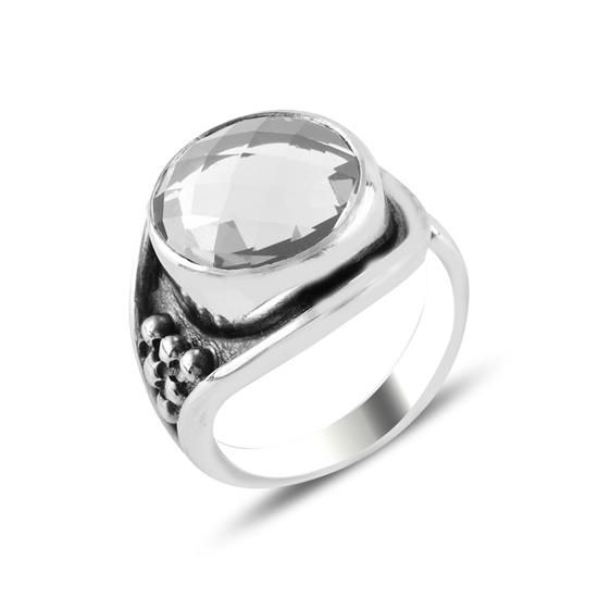 Ürün resmi: Zirkon Taşlı Ayarlanabilir Boylu Gümüş Bayan Yüzük