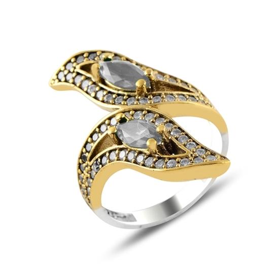 Ürün resmi: Zirkon Taşlı Otantik Gümüş Bayan Yüzük