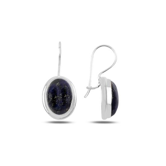 Ürün resmi: Lapis Lazuli Taşlı El İşi Gümüş Küpe