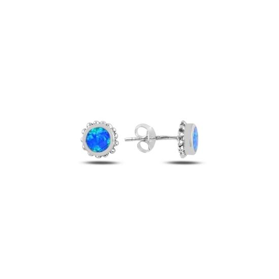 Ürün resmi: Opal Taşlı Gümüş Küpe
