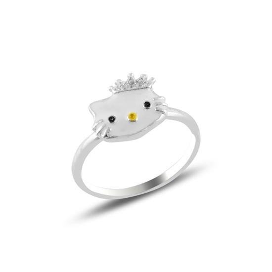 Ürün resmi: Kedi Mineli Gümüş Bayan Yüzük