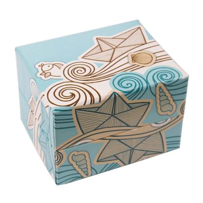 Resim Deniz Figürlü Süngerli Saat ve Bileklik Karton Hediye Kutusu