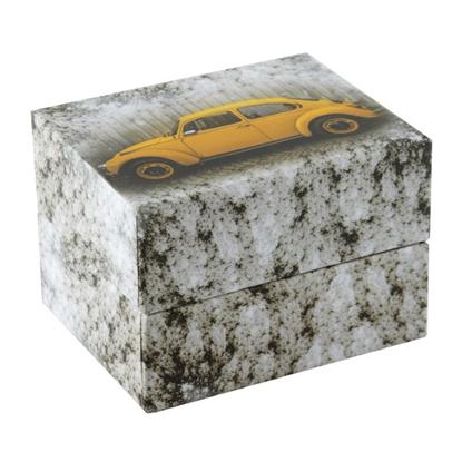 Resim Sarı Arabalı Yastıklı Saat ve Bileklik Karton Hediye Kutusu