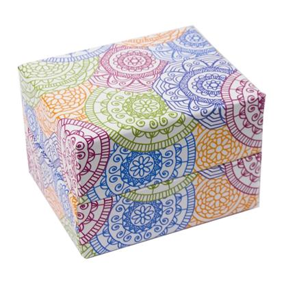 Resim Renkli Motifli Süngerli Saat ve Bileklik Karton Hediye Kutusu