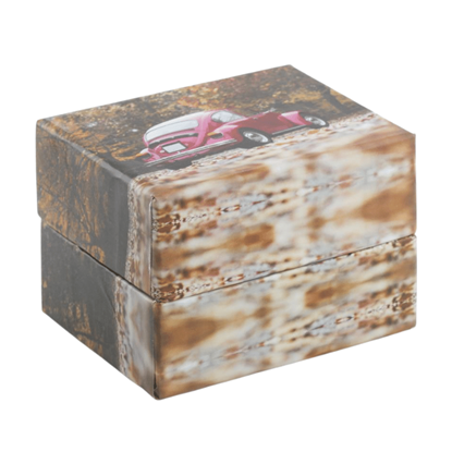 Resim Vosvos Sonbahar Yastıklı Saat ve Bileklik Karton Hediye Kutusu