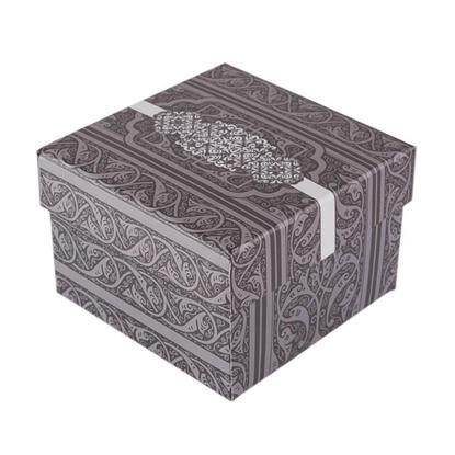 Resim Desenli Yastıklı Saat ve Bileklik Karton Hediye Kutusu