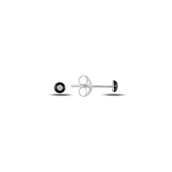 Ürün resmi: Zİrkon Taşlı Çivili Gümüş Küpe