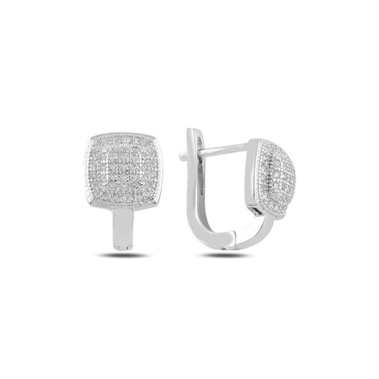 Ürün resmi: Zirkon Taşlı Gümüş J Küpe