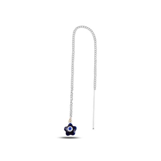 Ürün resmi: Göz Tüyü Mineli Japon Gümüş Küpe