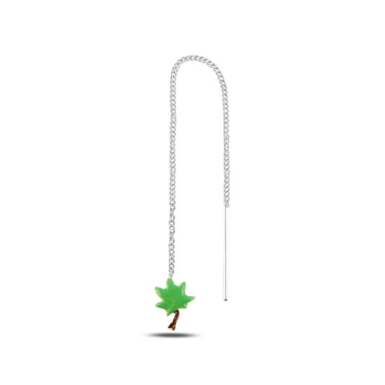 Ürün resmi: Ağaç Mineli Japon Gümüş Küpe