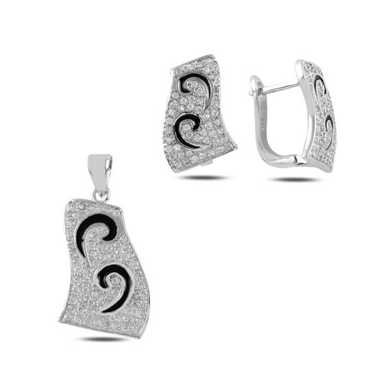 Ürün resmi: Zirkon Taşlı & Mineli Gümüş Bayan Set