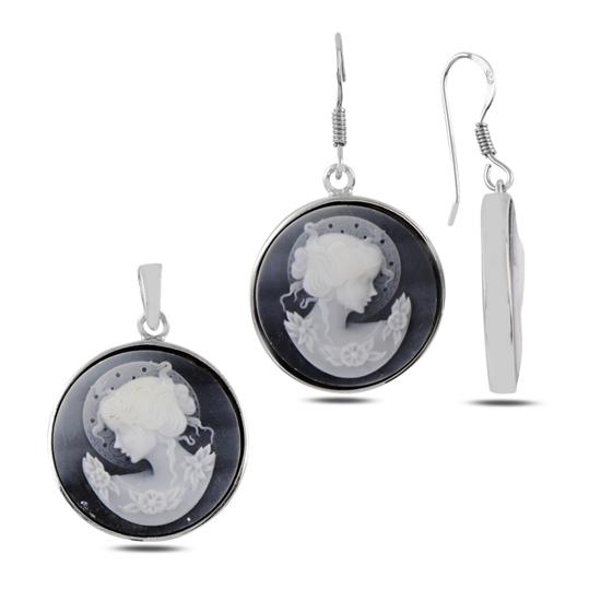 Ürün resmi: Cameo Gümüş Bayan Set