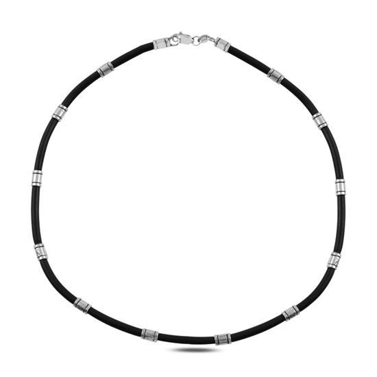 Ürün resmi: Kauçuk Gümüş Bayan Kolye