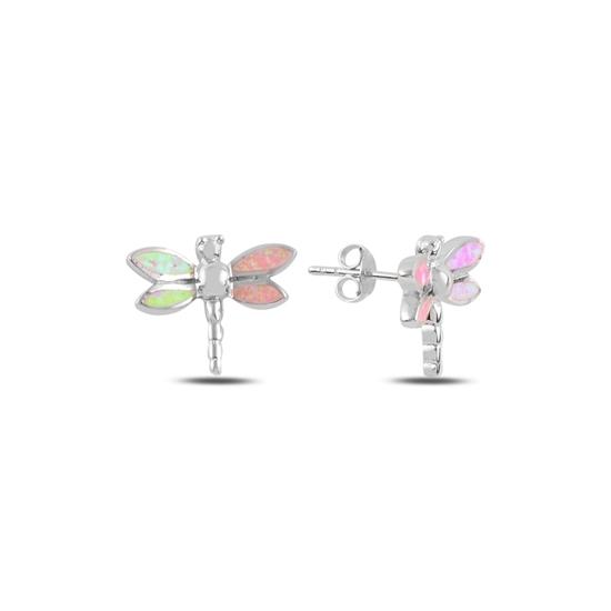Ürün resmi: Yusufçuk Opal Taşlı Gümüş Küpe