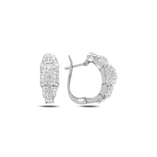 Ürün resmi: Kristal Taşlı Gümüş Küpe