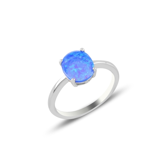 Ürün resmi: Opal Taşlı Gümüş Bayan Yüzük