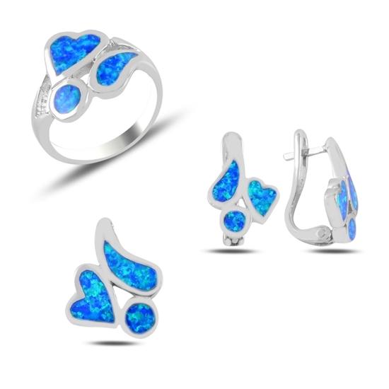 Ürün resmi: Opal Taşlı Gümüş Bayan Set