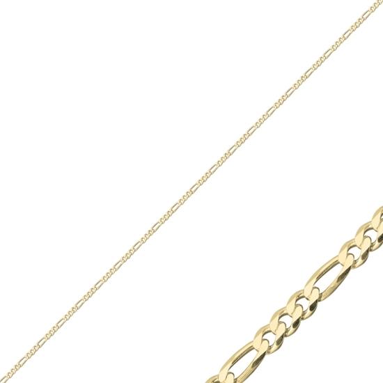 Ürün resmi: 60 Mikron Figaro Gümüş Bayan Zincir Kolye