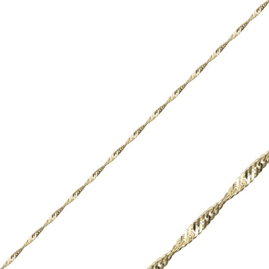 Ürün resmi: 40 Mikron Singapur (Twist) Gümüş Bayan Zincir Kolye