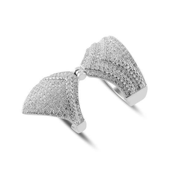 Ürün resmi: Zirkon Taşlı İkili Gümüş Bayan Yüzük