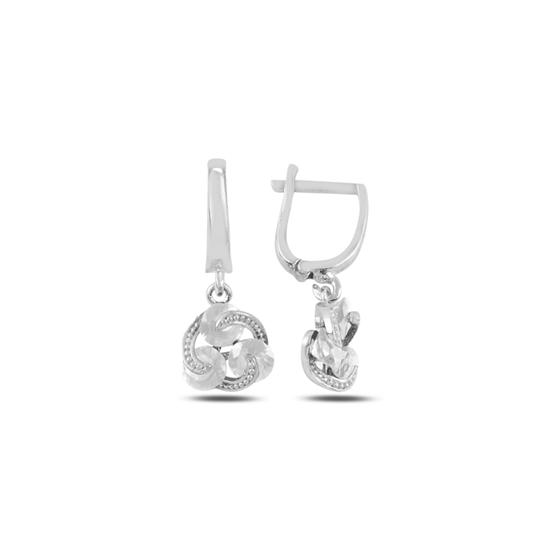 Ürün resmi: Rodyum Kaplama Zirkon Taşlı Gümüş Sallantılı Küpe