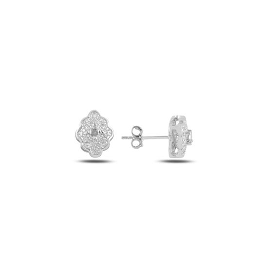 Ürün resmi: Beyaz Zirkon Zirkon Taşlı Gümüş Küpe
