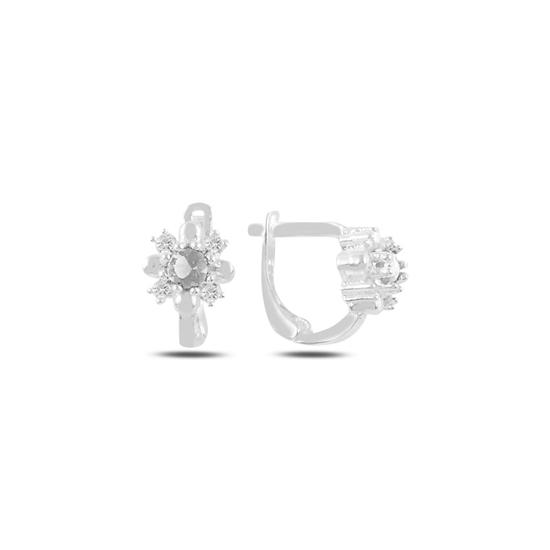 Ürün resmi: Beyaz Zirkon Zirkon Taşlı Gümüş Kız Çocuk Küpe